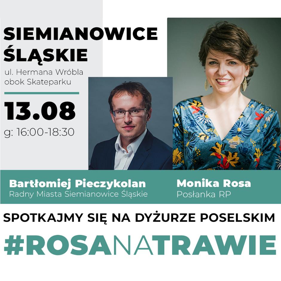 #RosaNaTrawie w Siemianowicach Śląskich | Monika Rosa
