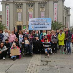 Protest matek osób z niepełnosprawnościami, Chorzów, Katowice