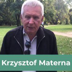 Krzysztof Materna – poparcie