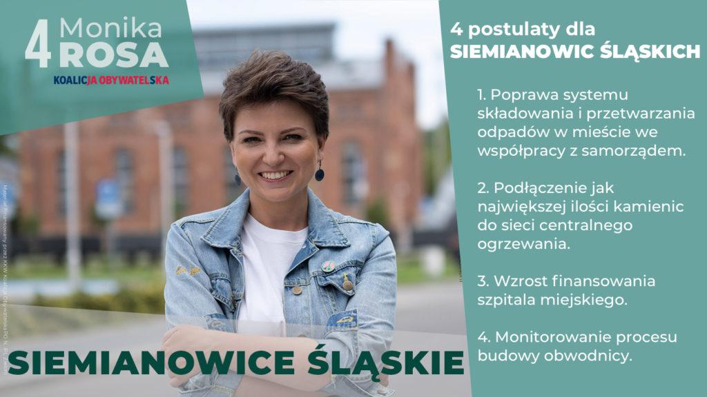 Cztery główne postulaty dla Siemianowic Śląskich | Monika Rosa