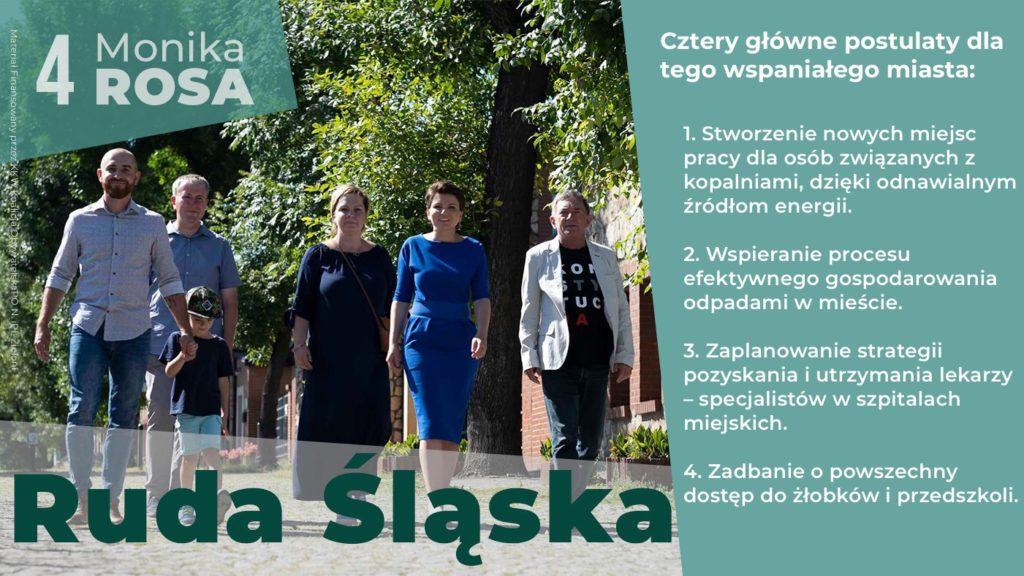 Cztery główne postulaty dla Rudy Śląskiej | Monika Rosa