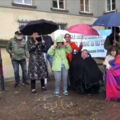 Protest osób z niepełnosprawnościami i ich opiekunów