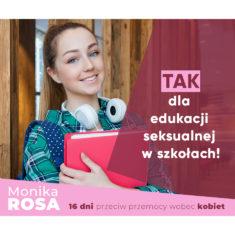 TAK dla edukacji seksualnej w szkołach! #16dni