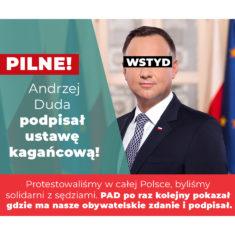 """Andrzej Duda podpisał ustawę """"kagańcową""""!"""
