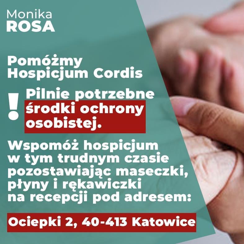 Wszędzie dziś potrzebna jest pomoc. Także w Hospicjum Cordis   Monika Rosa