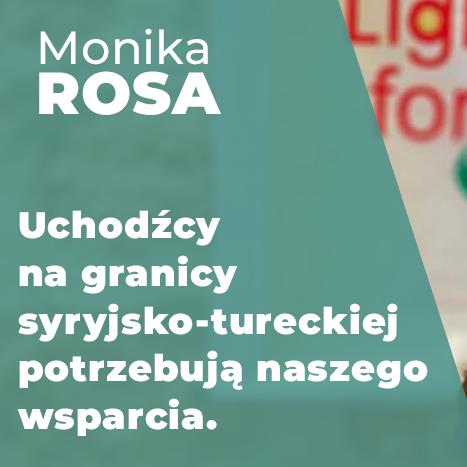 """Zbiórka na rzecz uchodźców - """"Na podpaski""""   Monika Rosa"""