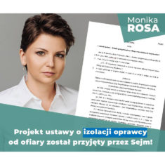 Projekt ustawy o izolacji oprawcy od ofiary został przyjęty przez Sejm!