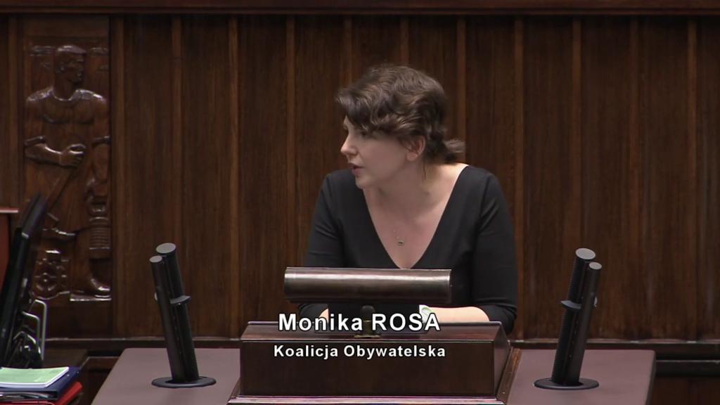 Wystąpienie sejmowe odnośnie praw pacjentów | Monika Rosa