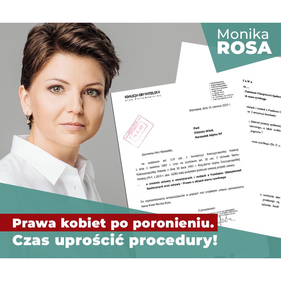 Prawa kobiet po poronieniu. Czas uprościć procedury! | Monika Rosa