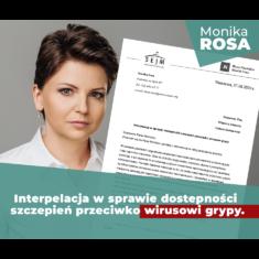 Interpelacja do Ministra Zdrowia z prośbą o interwencję w sprawie dostępności szczepień przeciwko wirusowi grypy