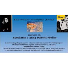 Spotkanie z Anną Dziewit-Meller