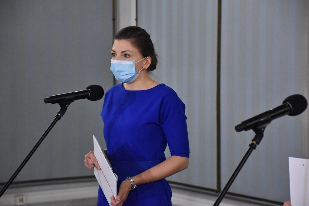 Konferencja prasowa - Składamy poprawki do ustawy o przeciwdziałaniu COVID 19 | Monika Rosa
