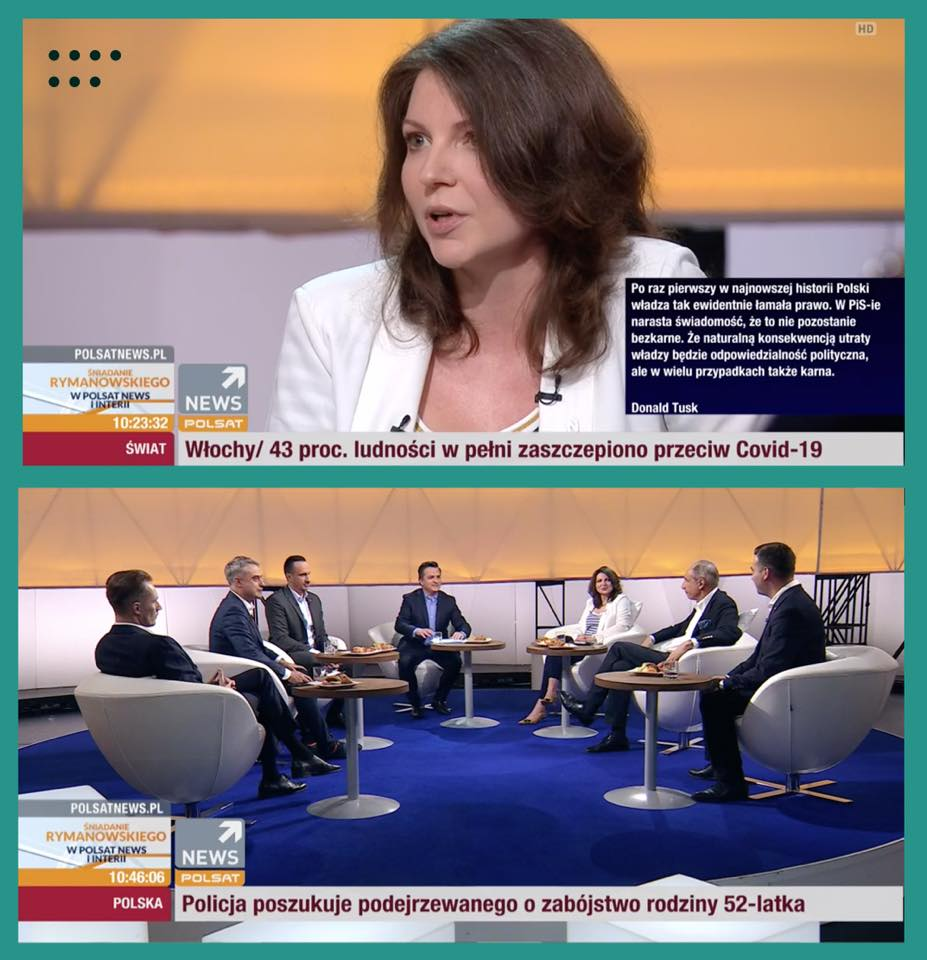 Śniadanie u Rymanowskiego w Polsat News | Monika Rosa