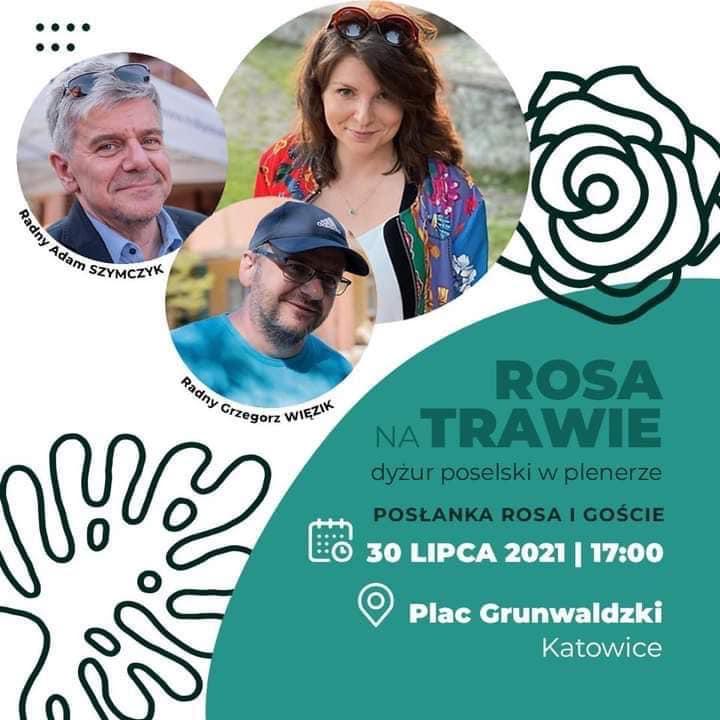 Rosa na trawie - dyżur poselski w plenerze | Monika Rosa